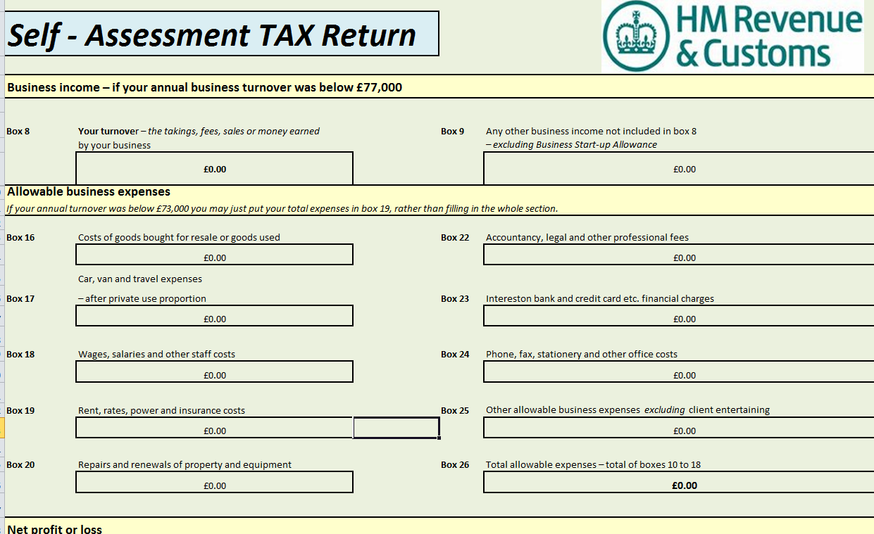 self assessment tax return form 2014